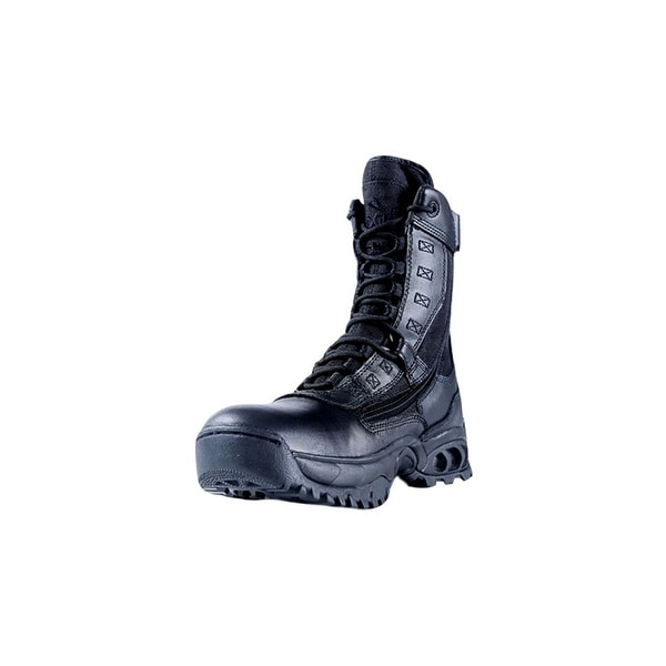Ridge Tactical Boots Men The Ghost Zipper 8 Inch Shaft Black