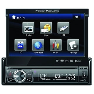 "Power Acoustik Single Din 7"" BT LED LCD Flip Up Source Unit"