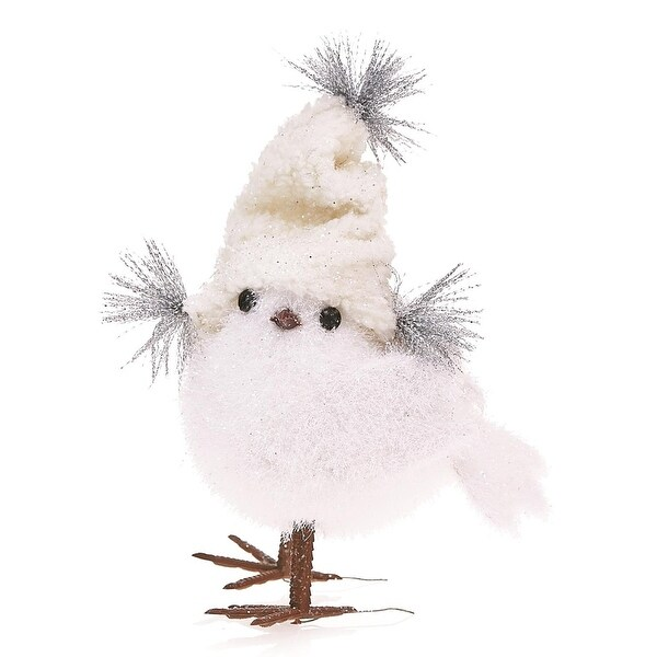 Pack of 2 Country Rustic Plush Party Chick Christmas Table Top Decorations 7.5""