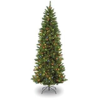 Celebrations GRF32-309-70M Georgian Fir Slim Christmas Tree, 7', MultiColor
