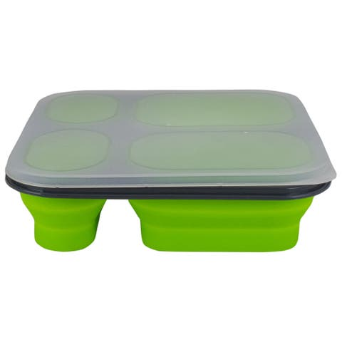 """8.5"""" Portable Portion Control Collapsible Food Storage with Lid"""
