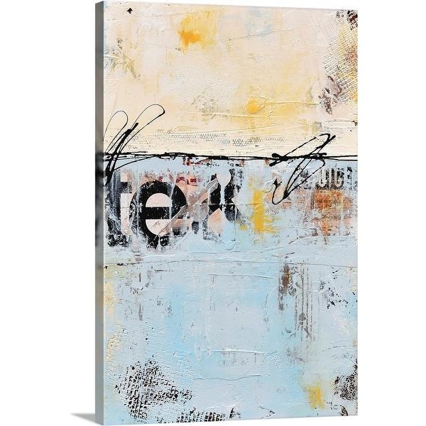 """""""Sideways"""" Canvas Wall Art"""