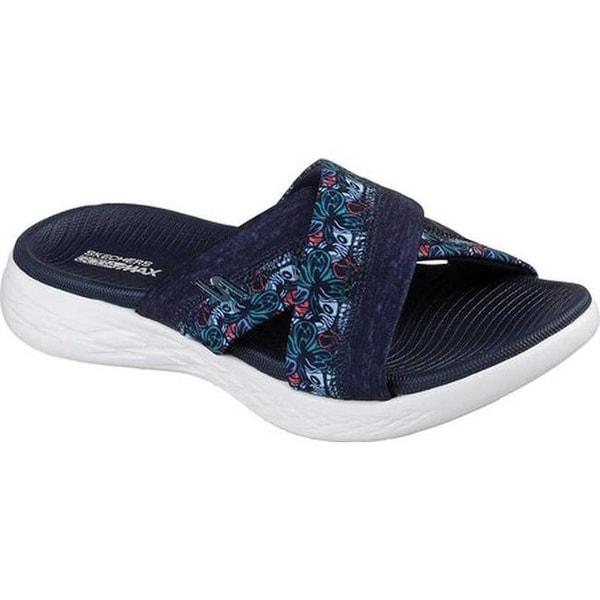 17c53a99b Shop Skechers Women s On the GO 600 Monarch Slide Sandal Navy - On ...