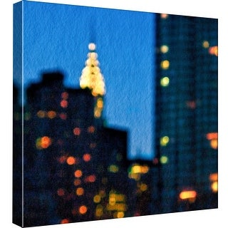 """PTM Images 9-97667  PTM Canvas Collection 12"""" x 12"""" - """"Lights of the City: Chrysler Building"""" Giclee Chrysler Building Art Print"""