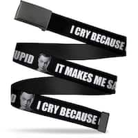Blank Black Buckle Sheldon I Cry Because Others Are Stupid That Makes Web Belt