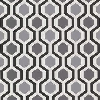 Brewster 347-20133 Marina Black Modern Geometric Wallpaper - N/A