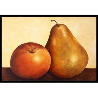 Carolines Treasures BABE0089MAT Apple & Pear Indoor or Outdoor Mat 18 x 27