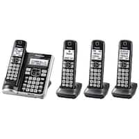Panasonic KX-TGF574S Link2Cell BluetoothCordless Phone with Voice Assist and Answering Machine - 4 Handsets (Refurbished)