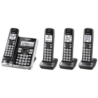 Panasonic KX-TGF574S Link2Cell BluetoothCordless Phone with Voice Assist and Answering Machine - 4 Handsets