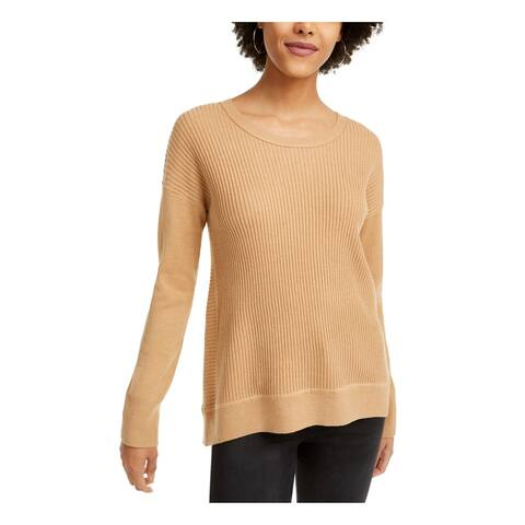FRENCH CONNECTION Womens Beige Solid Long Sleeve Sweater Size S