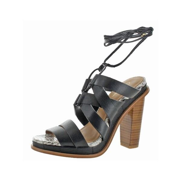 Calvin Klein Womens Panelope Dress Sandals Open Toe Stacked Heel