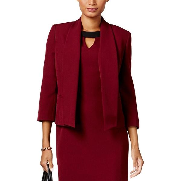 Shop Kasper Womens Open Front Blazer Shawl Collar Office
