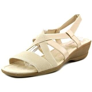 Life Stride Allure Women Open Toe Canvas Wedge Sandal