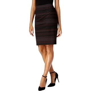 Nine West Womens Pencil Skirt Mini Striped