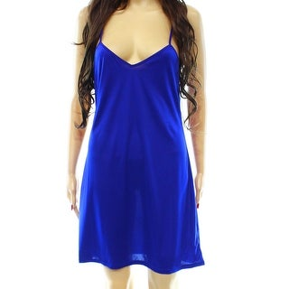 Designer NEW Royal Blue Size Medium M V-Neck Babydoll Sleepwear Dress