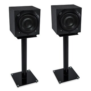 Mount-It! Floor Speaker Stands for Satellite Speakers and Surround Sound Systems