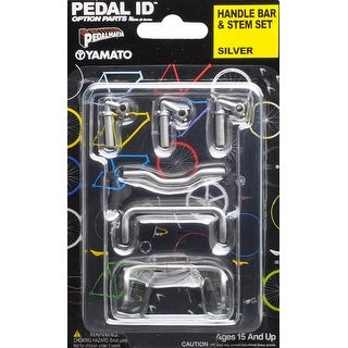 Pedal Id 1:9 Scale Bicycle: Handle Bar & Stem Set: Silver - multi