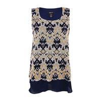 Style & Co. Women's Sleeveless Lace Top - wanderlust motifs