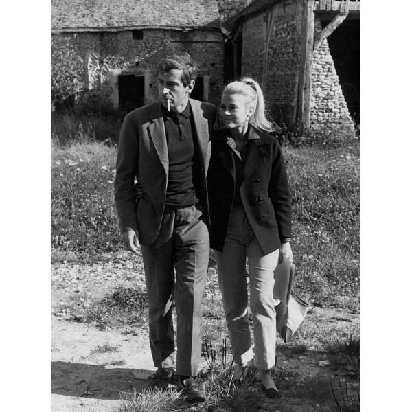 1f9c1666dad29 Jane Fonda with her husband Roger Vadim Photo Print