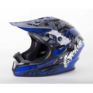 Cyclone ATV MX Motocross Dirt Bike Quad Off-road Helmet Blue