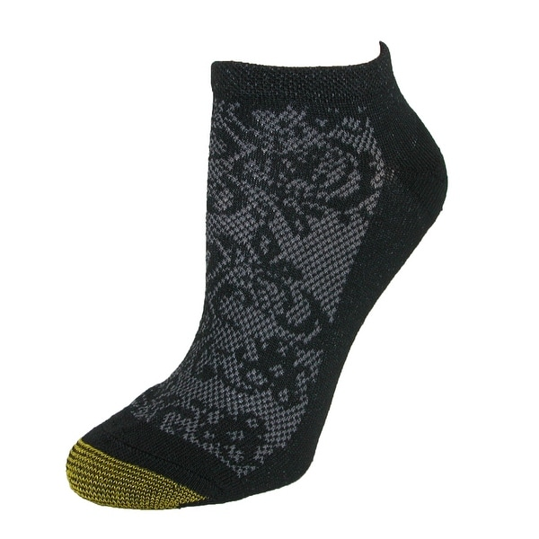 Gold Toe Women's Floral Sport No Show Socks (6 Pair Pack)