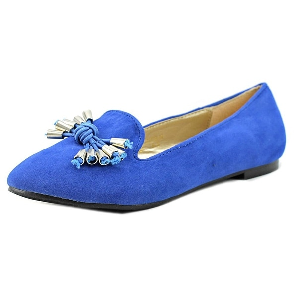 a.x.n.y. Gator-90 Women Round Toe Synthetic Blue Ballet Flats
