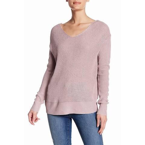 Cotton Emporium Women's Purple Size XL Twist Back Pullover Sweater