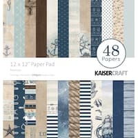 "Nautical - Kaisercraft Paper Pad 12""X12"" 48/Pkg"