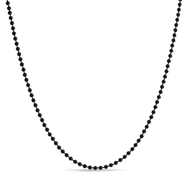 """16/""""-40/"""" 3mm High Quality Black Stainless Steel Men/&Women Rolo Chain Necklace New"""