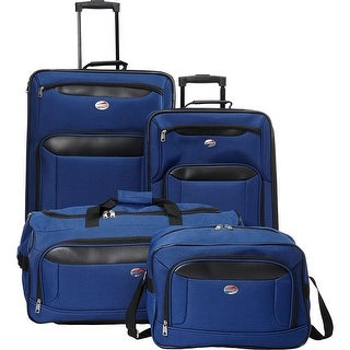 American Tourister Brookfield 4 Piece Set, Navy/Black