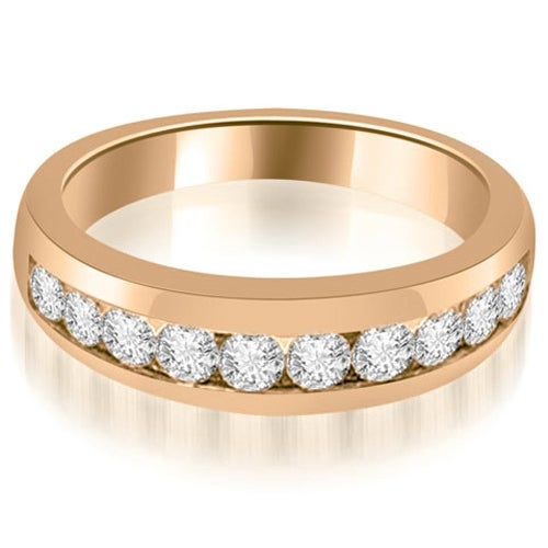 0.65 cttw. 14K Rose Gold Channel Set Round Cut Diamond Wedding Band