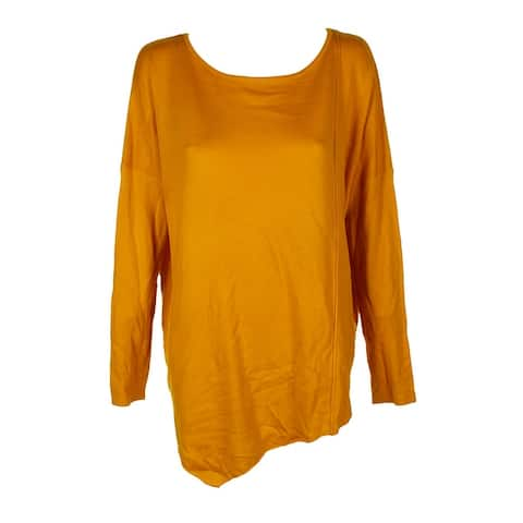 Inc International Concepts Polished Gold Asymmetrical Tunic Sweater XL