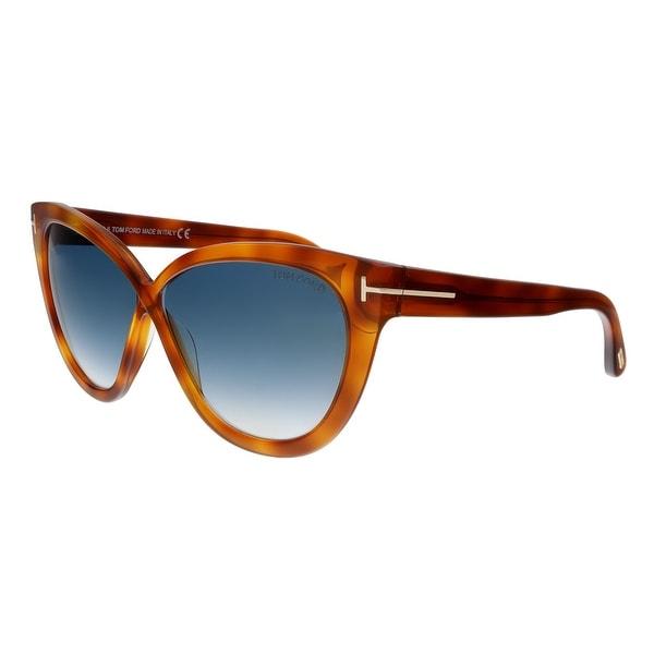 75554974beb Tom Ford FT0511 53W Arabella Blonde Havana Cat Eye Sunglasses - No Size