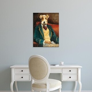 Easy Art Prints Avery Tillmon's 'Edgar Allen Paw' Premium Canvas Art