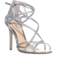 Badgley Mischka Crystal Dress Sandals, Silver Metallic - 8 us
