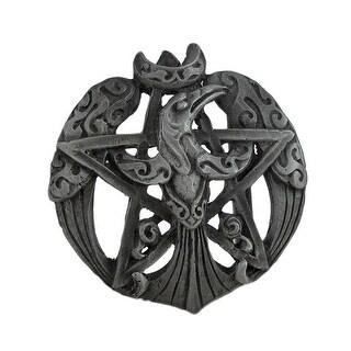Pewter Raven Moon Pentacle Belt Buckle