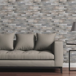 Removable Wallpaper Tile - Light Wood