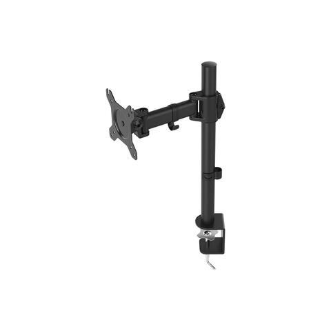 Monoprice Essential Single Monitor Adjustable Arm Desk Mount 180° Swivel, 360° Rotation