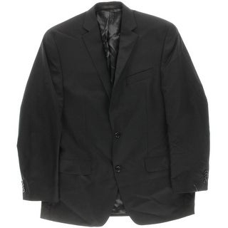 MICHAEL Michael Kors Mens Wool Solid Two-Button Suit Jacket - 40R