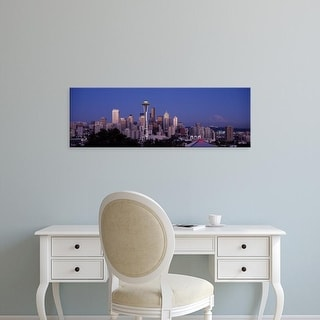 Easy Art Prints Panoramic Images's 'Skyscrapers in a city, Seattle, Washington State, USA' Premium Canvas Art