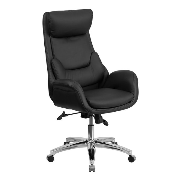 Shop Offex High Back Black Leather Executive Office Chair