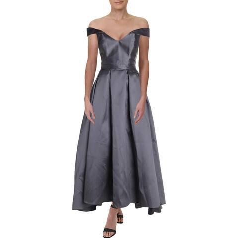 Xscape Womens Formal Dress Off-The-Shoulder Evening