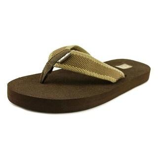 Teva Mush II Men Open Toe Synthetic Brown Flip Flop Sandal