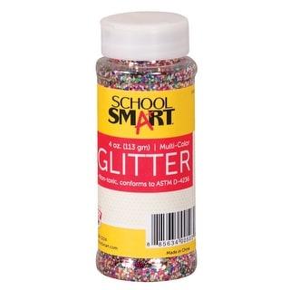 School Smart Glitter, 4 Ounce Jar, Assorted Colors
