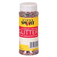 School Smart Glitter, 4 Ounce Jar, Assorted Colors