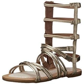 Stuart Weitzman Girls Camia Spartalo Faux Leather Gladiator Sandals