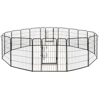 Link to ALEKO Pet Playpen Dog Kennel Cage Fence 16 Panel Similar Items in Dog Houses & Pens