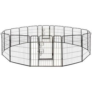 Link to ALEKO Pet Playpen Dog Kennel Pen Cage Fence 8 Panel Similar Items in Dog Houses & Pens
