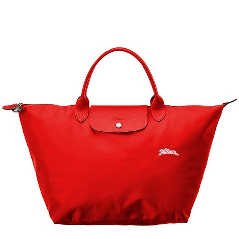 LongChamp Womens Le Pliage Club Tote Red Vermilion