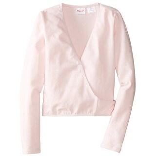 Capezio Big Girls' Classics Wrap Top, Pink, Intermediate